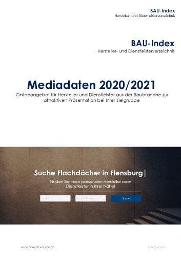 Cover Mediadaten BAU-Index