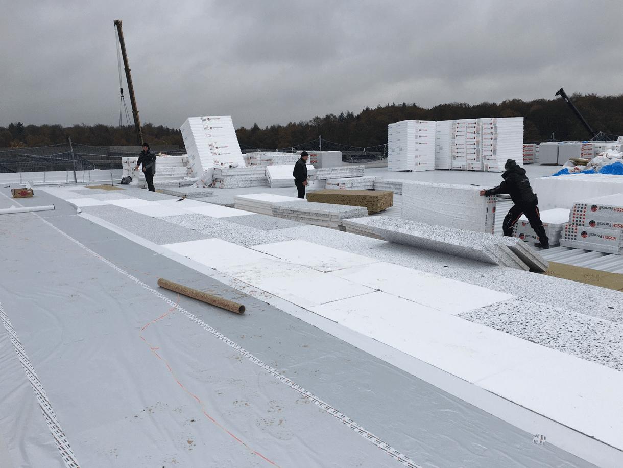 EPS – Flachdachdämmung, Kühllager in Mücke